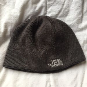 The North Face grey beanie